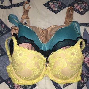 Victoria's Secret 32dd 32e bra bundle sexy cute